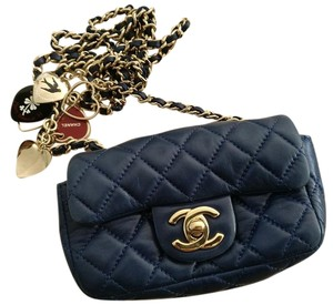 Chanel Extra Mini Flap Navy Lambskin Cross Body Bag