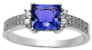 9.2.5 Beautiful antique style purple tanzanite ring size 7