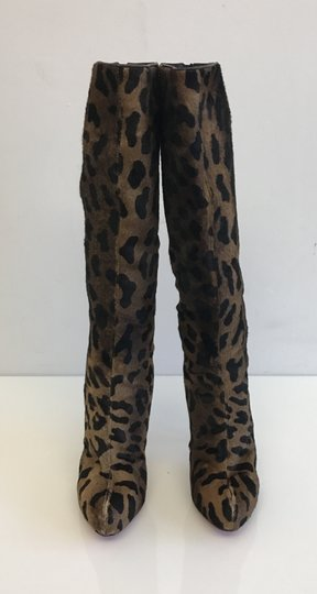 Christian Louboutin Leopard Red Bottoms Fashion Brown Boots Image 1