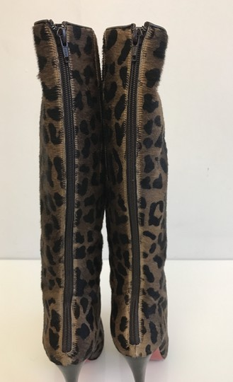 Christian Louboutin Leopard Red Bottoms Fashion Brown Boots Image 2
