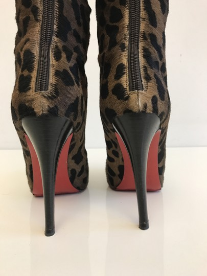 Christian Louboutin Leopard Red Bottoms Fashion Brown Boots Image 5