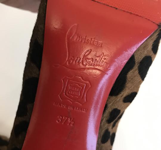 Christian Louboutin Leopard Red Bottoms Fashion Brown Boots Image 8