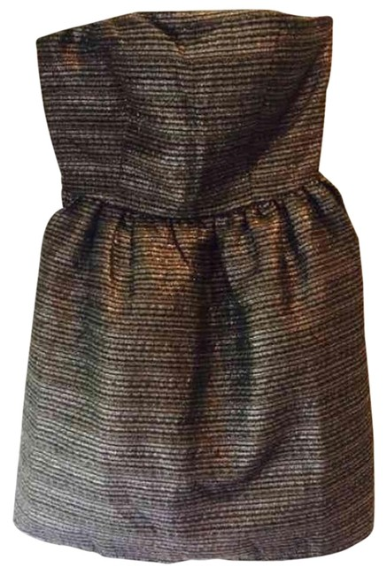 Preload https://img-static.tradesy.com/item/20096256/black-and-silver-above-knee-short-casual-dress-size-4-s-0-2-650-650.jpg