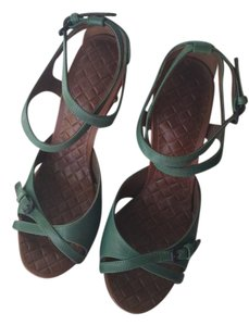 Bottega Veneta Bottega Teal green and brown Platforms