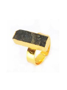 Other Labradorite Bar Natural Stone Statement Ring