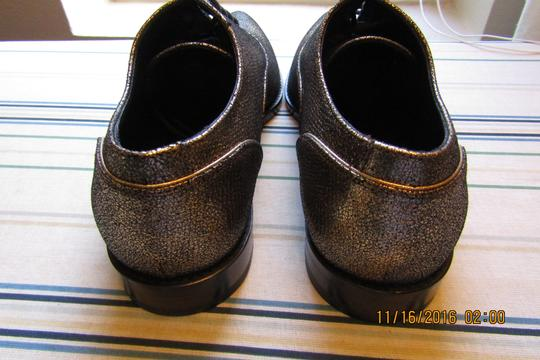 Lanvin Oxfords Brogues Pointed Toe Edgy Aged Gold Flats Image 4