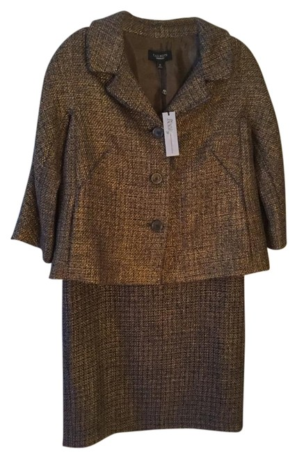 Preload https://img-static.tradesy.com/item/20096386/talbots-blackbrowngold-jackie-swing-jacket-and-pencil-8-skirt-suit-size-10-m-0-2-650-650.jpg