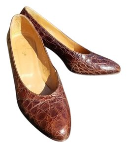 Ralph Lauren Vintage Brown Alligator Pumps