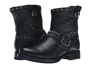 Frye Studded Leather Black Boots