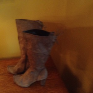 One of 2 Dark taupe Boots