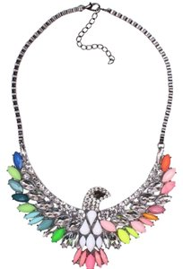 Other Multi Color Stone Eagle Bird Statement Necklace