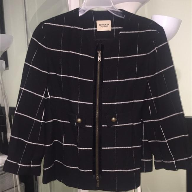 Saint Laurent Chic Wool Black and White Jacket