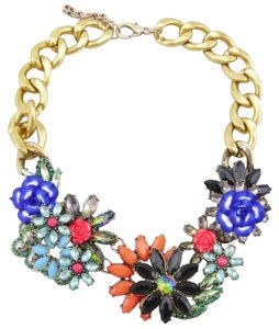 Other Floral Multi Color Stone Statement Necklace