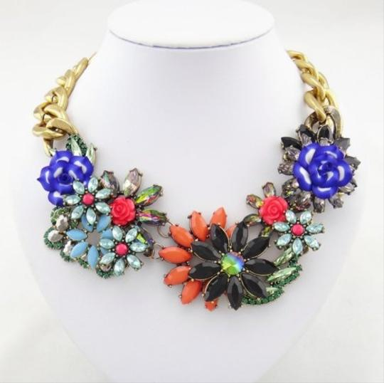 Other Floral Multi Color Stone Statement Necklace Image 1