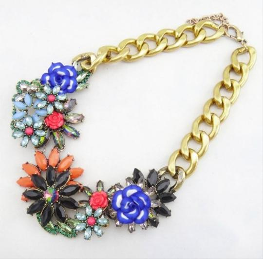 Other Floral Multi Color Stone Statement Necklace Image 2