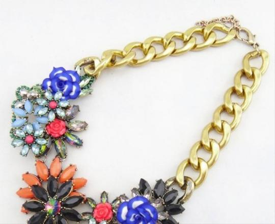 Other Floral Multi Color Stone Statement Necklace Image 3
