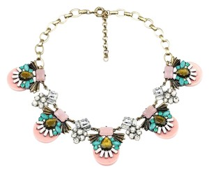 Other Pink Multi Color Stone Statement Necklace