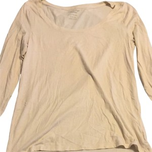 American Eagle Outfitters T Shirt Cream Shimmer