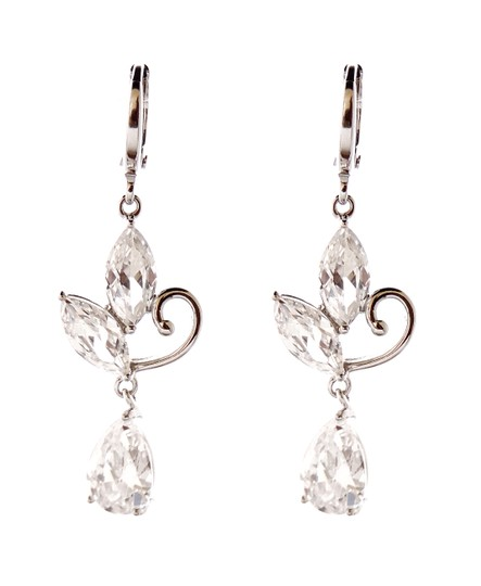 Preload https://img-static.tradesy.com/item/20096553/rhodium-silver-cubic-clear-stones-classic-cz-vintage-gatsby-inspired-chandelier-earrings-0-0-540-540.jpg