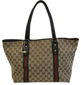 Gucci Monogram Jolicoeur Fashion Tote in Beige