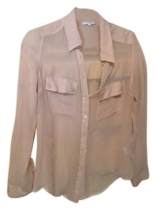 Equipment Button Down Top nude