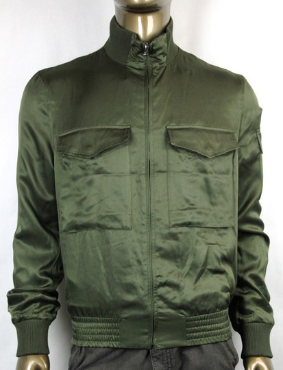 Gucci Olive Green New Men's Silk Bomber It 50 / Us 40 333620 3356 Groomsman Gift Image 1