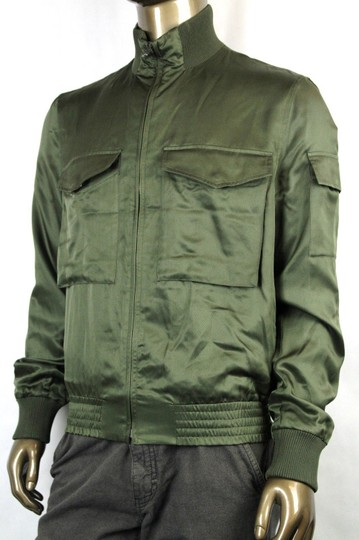 Gucci Olive Green New Men's Silk Bomber It 50 / Us 40 333620 3356 Groomsman Gift Image 2