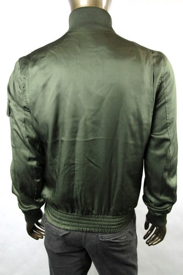 Gucci Olive Green New Men's Silk Bomber It 50 / Us 40 333620 3356 Groomsman Gift Image 4