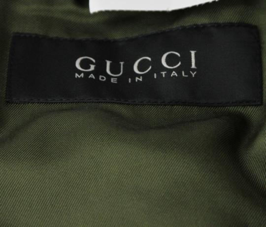 Gucci Olive Green New Men's Silk Bomber It 50 / Us 40 333620 3356 Groomsman Gift Image 5
