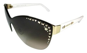 Versace Glam Wrap - White & Gold Metal Studs, Sunglasses