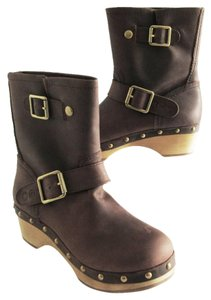Lucky Brand Lexi Oilded Leather 37.5 Brown Boots