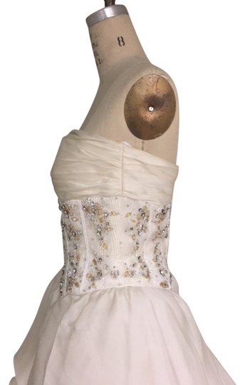 Stephen Yearick Offwhite Multi White Organza Tulle 2483 3d Ballgown Beaded Bodice Strapless Sweetheart Traditional Wedding Dress Size 6 (S) Image 5