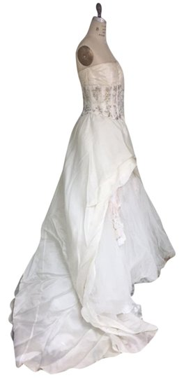 Stephen Yearick Offwhite Multi White Organza Tulle 2483 3d Ballgown Beaded Bodice Strapless Sweetheart Traditional Wedding Dress Size 6 (S) Image 7