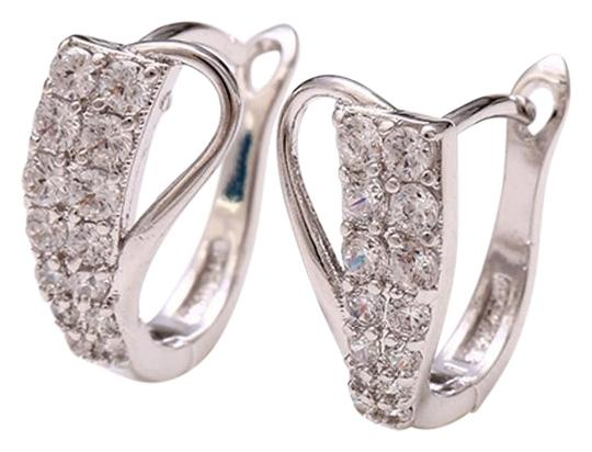 Preload https://img-static.tradesy.com/item/20096810/rhodium-silver-cubic-clear-stones-abstract-pave-zirconia-studded-elegant-earrings-0-1-540-540.jpg