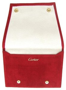 Cartier New Authentic Red Suede Jewelry Pouch