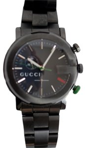 Gucci Gucci G-Chrono Matte Black PVD Guilloche Watch YA101331