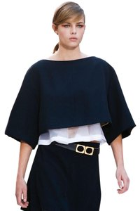 Chloé Runway Ss13 Ready To Wear Crop Top Dark Blue