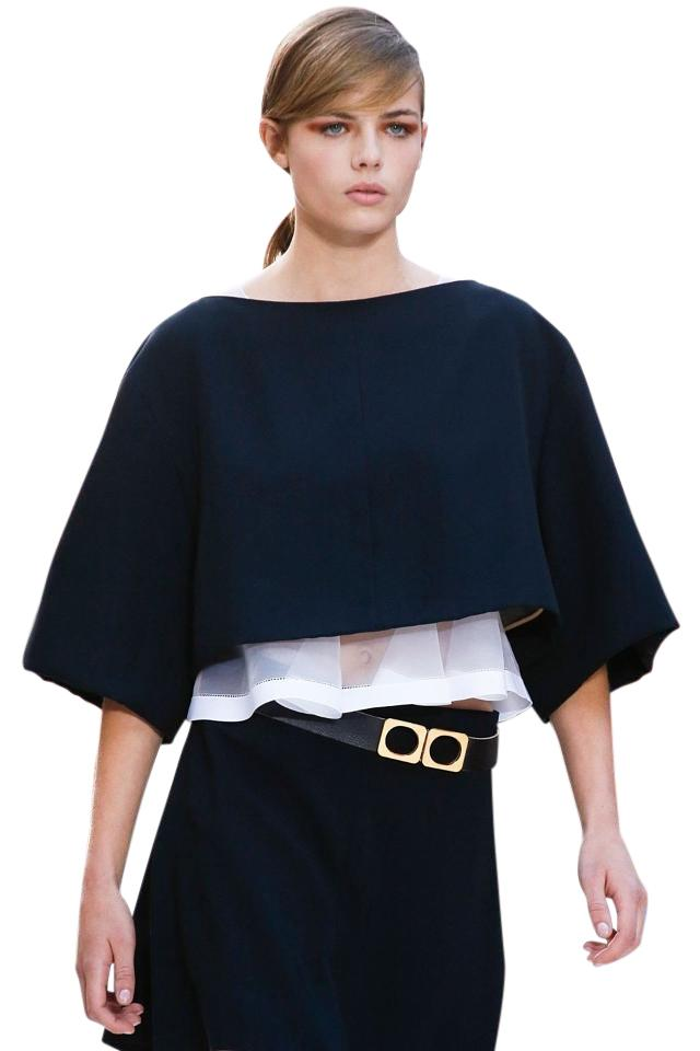 63aa2b33d6 Chloé Dark Blue Runway Ss13 Ready To Wear Collection 38 Blouse Size 8 (M)