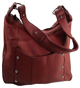 Roma Leathers Leather Gun Carry Hobo Shoulder Bag