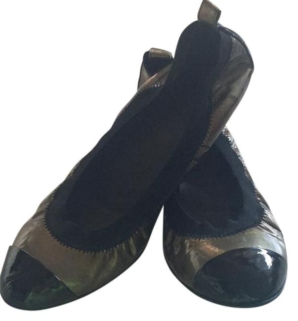 Item - Black and Military Green Flats Size US 7.5 Wide (C, D)