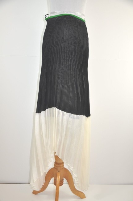 Céline Runway High Low Pleated Skirt Color Block