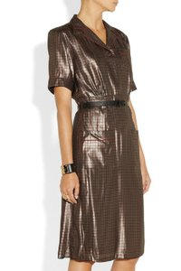 Marc Jacobs Gold Tone Holiday Metallic Chic Dress