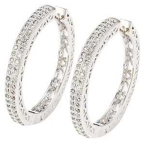 Other Small Pave Hoop Earrings