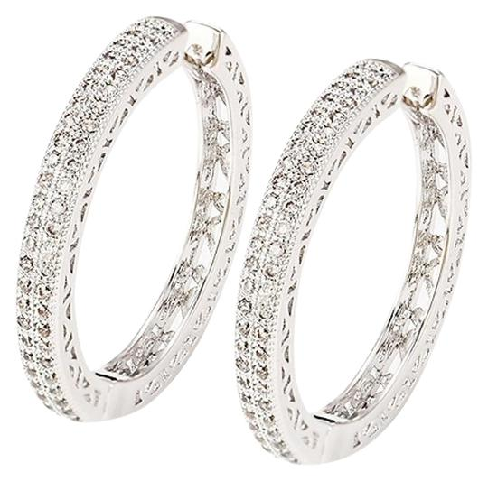 Preload https://img-static.tradesy.com/item/20096963/rhodium-silver-cubic-clear-stones-small-pave-hoop-earrings-0-1-540-540.jpg