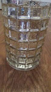 10- Large Gold Vase With Clear Cylinder Vase Insert