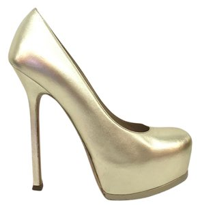 Saint Laurent Tribtoo Tribute Gold Pumps