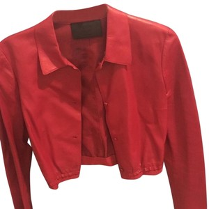 Prada Red Leather Jacket