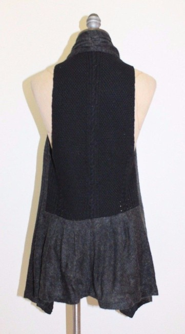 Anthropologie Lace Striped Lightweight Draped Vest
