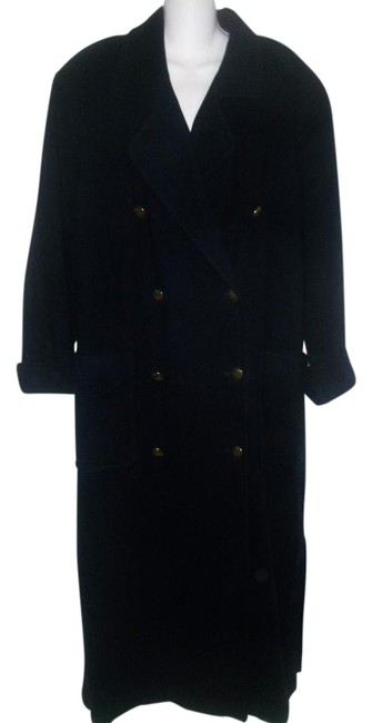 Preload https://img-static.tradesy.com/item/20097015/ellen-tracy-navy-blue-vintage-1980-s-double-breasted-woolcashmere-long-size-10-m-0-1-650-650.jpg