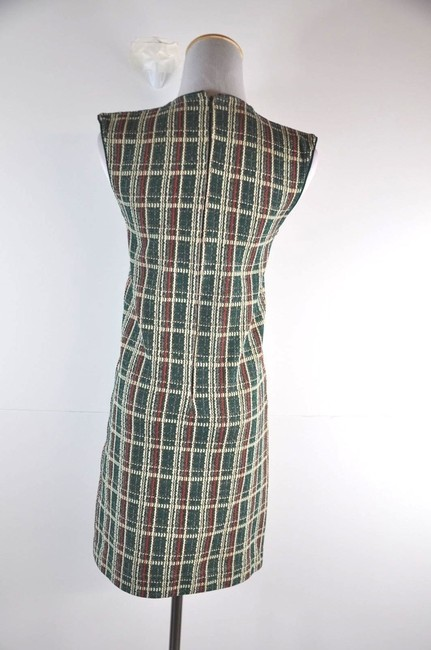 Céline short dress Multi0color Tweed/Check Sleeveless Mini on Tradesy